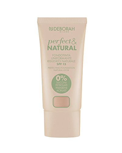 Deborah Milano 5612 Fondotinta, Perfect e Natural 02, Light Rose