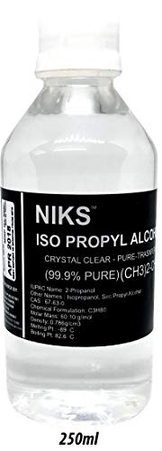 NIKS IPA Iso-Propyl Alcohol 99.9% [(CH3)2-CH-OH] CAS: 67-63-0, 250ml