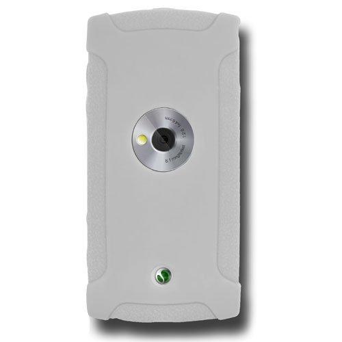 Amzer - Custodia in Silicone per Sony Ericsson Vivaz, Colore: Bianco/Trasparente
