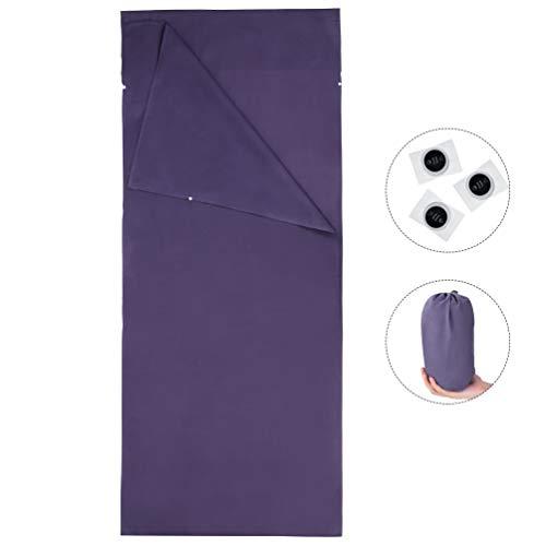 RUNACC Mini Schlafsack Deckenschlafsack Leichte Hüttenschlafsack mit Aufbewahrungstasche, Komprimierte Handtücher