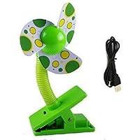 Bestland Clip-on Mini Ventilator Kinderwagen-Ventilatoren USB Batteriebetrieben Tragbar Clip VentilatorCooling Fan fürKinderwagen Babybett oder Outdoor