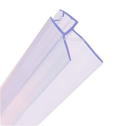 MNNHOME Bad Duschwand Türdichtung für 4-6mm gerades/gebogenes Glas für einer Lücke von bis zu 20mm