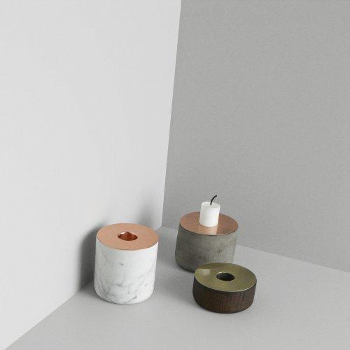 Menu 5610039 Kerzenständer Chunck aus Holz, M, Messing, Höhe 7 cm, Durchmesser 8 cm - 3