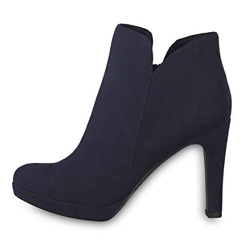 Tamaris 1-1-25316-22 Damen AnkleBoot,Stiefel,Halbstiefel,Bootie,hoher Absatz,sexy,feminin,Touch-IT,Navy,37 EU