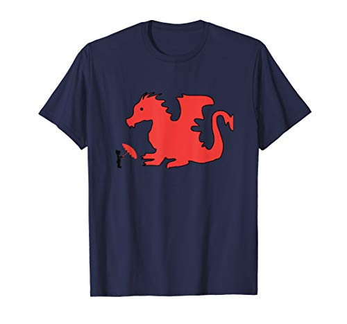 Hong Kong Regenschirm, China Drachen T-Shirt - Drachen-grafik-t-shirts