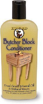 Butcher Block Condtion Enriched with Orange Oils Food Grade Mineral Oil with Vitamin E Butcher Block Oil & Conditioner 12oz by Howard Products