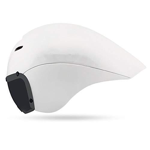 MQW Rennradhelm Veranstaltungsort Wettbewerb Triathlon Helm Zeitfahren Reiten Männer und Frauen Helm Goggles Schöne Persönlichkeit (Farbe : White)