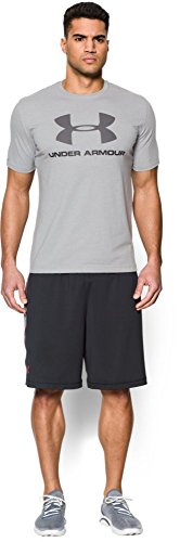 Under Armour Cc Sportstyle Logo Herren Fitness - T-Shirts Grey/Orange