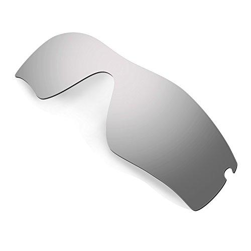 HKUCO Mens Replacement Lenses For Oakley Radar Path Sunglasses Titanium Mirror Polarized