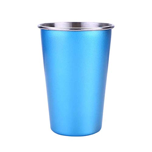 Altsommer Edelstahl-Schalen-trinkendes Saft-Bier-Glas-Teil-Schalenausgangsreise-Picknick Kaltes Getränkebecher aus Edelstahl (C) -