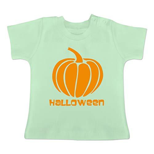 (Anlässe Baby - Kürbis - 6-12 Monate - Mintgrün - BZ02 - Baby T-Shirt Kurzarm)