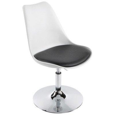 Victoria Chaise de salle à manger Couleur : Blanc/Noir