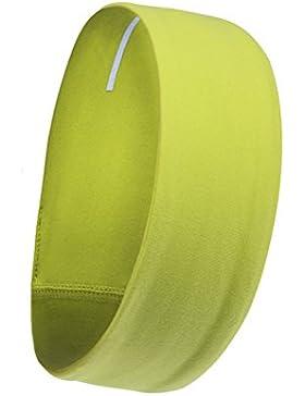 Frcolor Venda De Pelo Diadema Accesorios Para El Cabello para el yoga en ejecución (amarillo brillante)