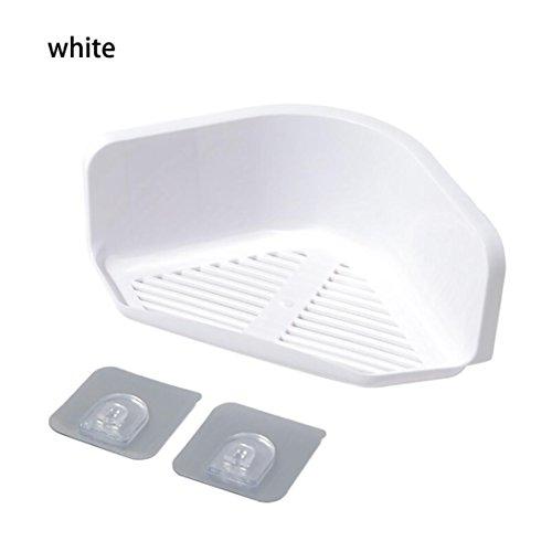 STRIR Estantería de Esquina para Baño Ducha,Autoadhesivo 3M, Aluminio, plástico ABS, Estantes (Blanco)