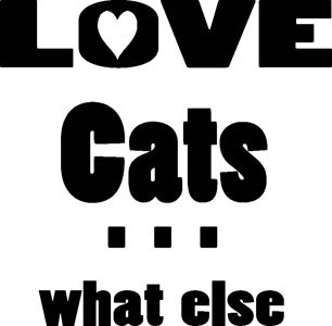 Mister Merchandise Herren Men V-Ausschnitt T-Shirt Love Cats - what else Tee Shirt Neck bedruckt Navy