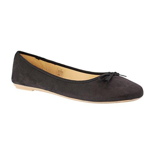 Bild von Fitters Footwear - Helen - Damen Ballerinas - Schwarz Schuhe in Übergrößen