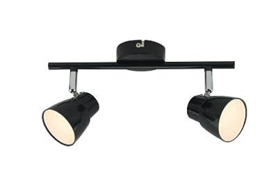 Amara LED 2x 2,5W Spotrohr, 2-flammig, G10113/06, schwarz/chrom von Brilliant AG auf Lampenhans.de