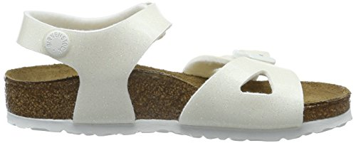 Birkenstock Rio, Sandales mixte enfant Blanc - White (Magic Galaxy White)