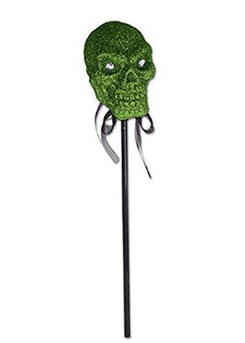 Halloween Personal Grün Glitter Skull auf Stick