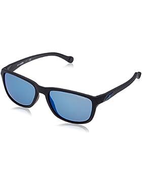 Arnette Straight Cut, Gafas de Sol Unisex, Negro Mate, 58