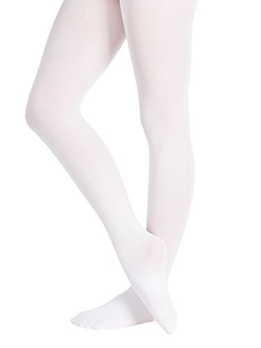 "DANCEWEAR & SHOES Ballettstrumpfhose ""Basic"" Farbe weiß Größe S/M"