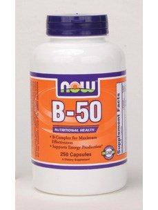 B-50, 250 Capsules - Now Foods - UK Seller
