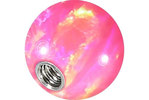 PIERCINGLINE Universelle Schraubkugel mit Innengewinde   SYNTHETISCHER Opal   Piercing ✔ Aufsätze ✔ Kugel ✔ Ersatz ✔   Farb & Größenauswahl -