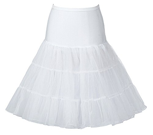 26 Inch White Petticoat Skirt. Ideal for Madonna 80s Like A Virgin Style
