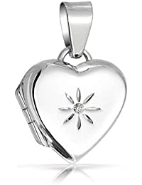 Bling Jewelry Flore para Niño Estrella CZ Colgante Dije Corazón Plata Esterlina 925