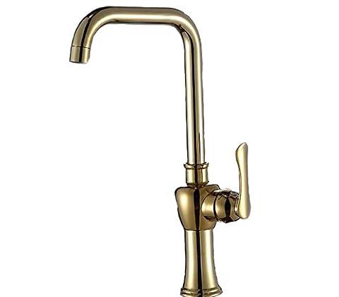 Wasserhahn Küche tippen er Antik gold warmes und kaltes Wasser ein einziges Loch