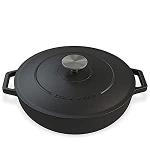 cyril lignac casserole fonte de haute qualit 25 cm 2 9l adapt s pour tous types de. Black Bedroom Furniture Sets. Home Design Ideas