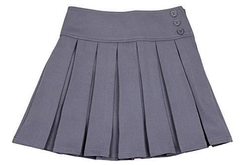 Bienzoe Mädchen Dauerhaft Teflon Dehnbar Schuluniformen Gefalteter Röcke grau 6