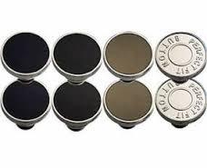 Set di 8 bottoni clip sostituzione istantanea senza cucire, kit emergenza ripara pantaloni senza bisogno di ago e filo MWS