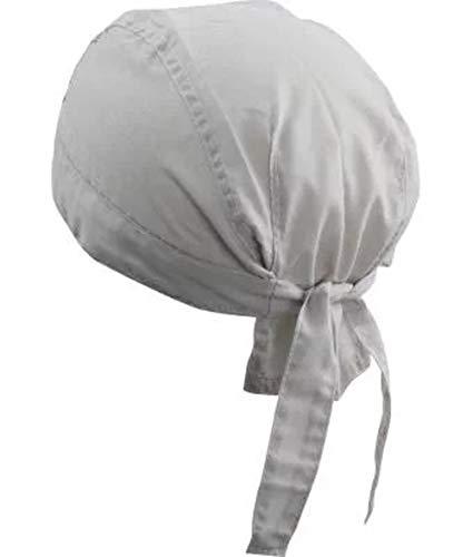 noTrash2003 Design Bandana Cap Mütze Kopftuch verschiedene Farben für Sport und Freizeit (Light Grey) (Wie Schals Zu Binden)