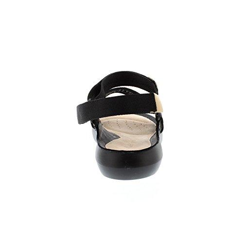 Clarks Tri Sienna, Sandali con Cinturino alla Caviglia Donna Nero (Black Combi)