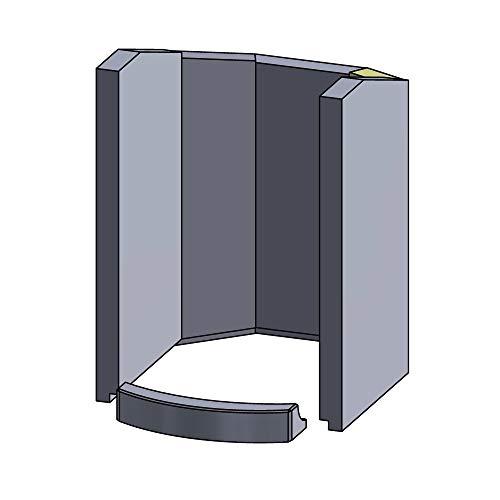 Flamado Feuerraumauskleidung Wandstein geeignet für Hinten Rechts passend für Hark Kamin Ersatzteile Kaminofen Brennraumauskleidung Schamotte 325 x 110 x 25 mm 1.350°C