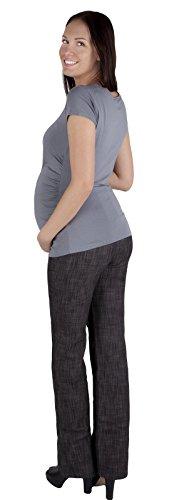 Denim classique schwangerschaftshos'umstandsjeans confortable avec bande ventrale 3014 Denim Noir