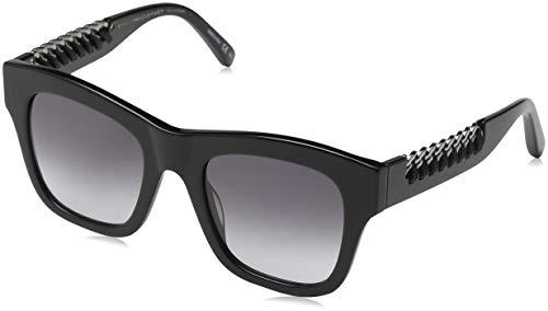Stella mccartney sc0011s 005, occhiali da sole unisex - adulto, nero (005-black/grey), 49