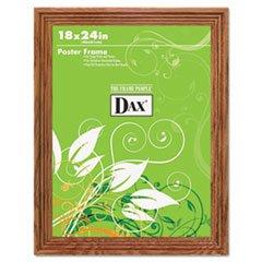Solid Wood Poster Frame, Traditional w/Plexiglas Window, 18 x 24, Med (Oak Poster)