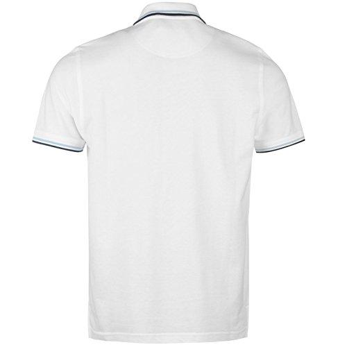 Pierre Cardin Tipped Herren Polo Shirt Kurzarm Tee Top Polohemd Poloshirt Weiß