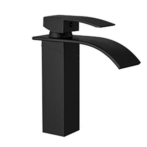 Waschraumarmaturen Wasserhahn Über Aufsatzwaschbecken Waschbecken Badezimmerschrank Wasserhahn Bad Nordic Schwarzer Farbe Einlochmontage Wasserhahn (Color : Black, Size : 30.1 * 17.2 * 6cm)