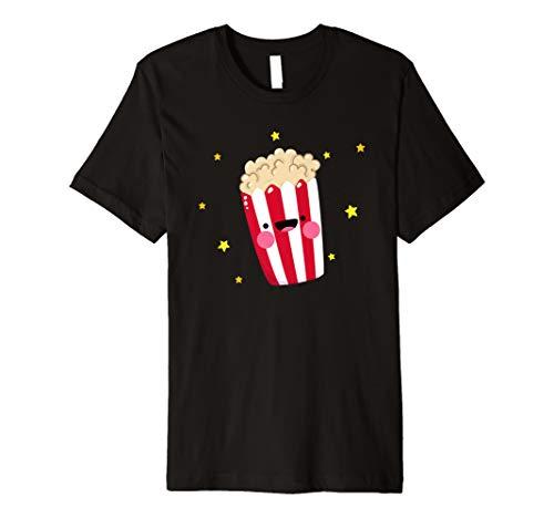 Popcorn T-Shirt - Popcorn Kostüm Damen Popcornloop Tüte Box