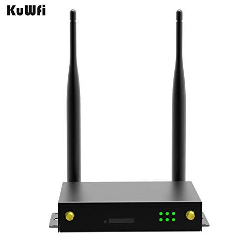 KuWFi Enrutador 4g LTE con sim, enrutador inalámbrico 4G con Carcasa de  Metal Módulo Quectel EC25E LTE Cat 4 Puertos Puerto LAN Tarjeta SIM Ranura