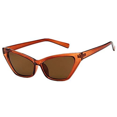 Sonnenbrille Polarisiert für Damen/Dorical Cat Eye Brille kleiner Rahmen Gläser Sonnenbrille mit UV-400 Schutz Vintage Brille Super Coole Frauen Sunglasses Travel Eyewear(G)
