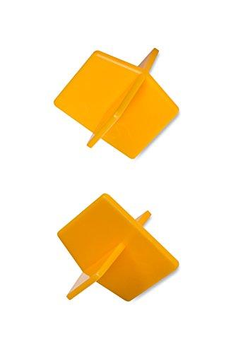 50x 2mm Pack 'Uniplug' prospacertm Premium, gelb Fugenkreuze, dass Einzigartige, auch Platz und Richten Ihre Fliesen um Ecken. Einfach zu benutzen und Griff | Can 't Get Links in der Fliesen
