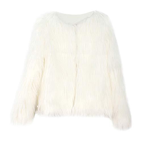 Shopaholic0709 Babykleidung,(18M-5T) Kinder Langarm Kunstpelz Plüsch Solid Color Jacke Baby-Winter-warme Kleidung Schwarz, Grau, Beige, Pink, Weiß, Khaki Mädchen Kostüm