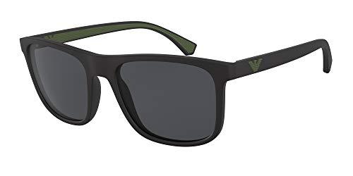 Ray-Ban Herren 0EA4129 Sonnenbrille, Blau (Matte Black), 56