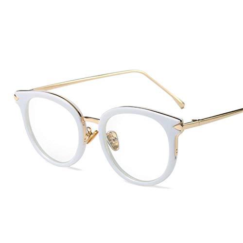 Verschreibungspflichtige Brillen Designer Arrow Alloy Brillengestell Herren Damen Voll Oversized Big Frame Myopie Luxus Markenbrillen, Weiß