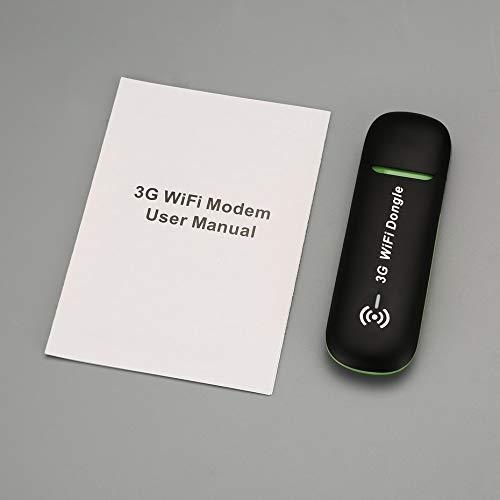 Panamami QR62W 3G Mobiler WLAN-Hotspot USB-Modem Universal-Breitband-Mini-WLAN-Router Mifi-Dongle mit SIM-Kartensteckplatz - Schwarz (Breitband-modem Wlan -)