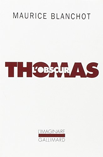 Thomas L'Obscur by Maurice Blanchot (2007-09-03)